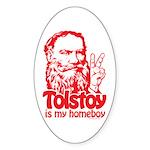 Tolstoy is My Homeboy Oval Sticker (50 pk)
