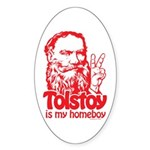 Tolstoy is My Homeboy Oval Sticker