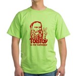 Tolstoy is My Homeboy Green T-Shirt