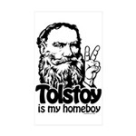 Tolstoy is My Homeboy Rectangle Sticker 10 pk)
