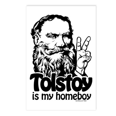 Tolstoy is My Homeboy Postcards (Package of 8)