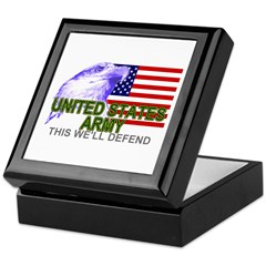 US Army American Eagle Keepsake Box