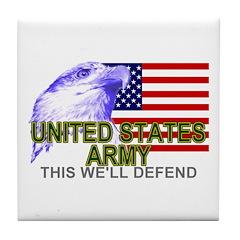 US Army American Eagle Tile Coaster