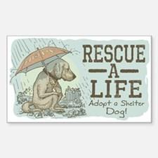 Adopt a Shelter Dog Rectangle Decal