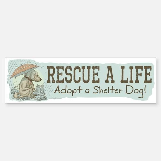 Adopt a Shelter Dog Bumper Bumper Bumper Sticker