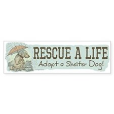 Adopt a Shelter Dog Bumper Bumper Sticker