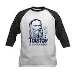 Tolstoy is My Homeboy Kids Baseball Jersey