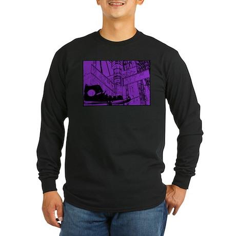 Canvas Sneaker Long Sleeve Dark T-Shirt