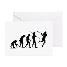 Lacrosse Evolution Greeting Cards (Pk of 10)