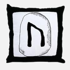 Viking Rune Uruz Throw Pillow