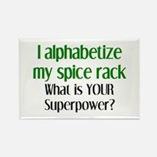 alphabetize spice rack Rectangle Magnet