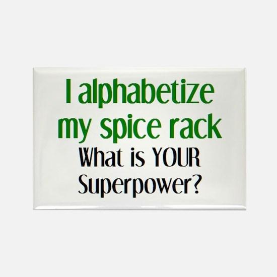 alphabetize spice rack Rectangle Magnet