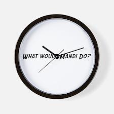 What would Mandi do? Wall Clock