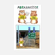 Abrahamster YumaRocks Cartoon Sticker (Rectangular