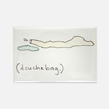 Douchebag Rectangle Magnet