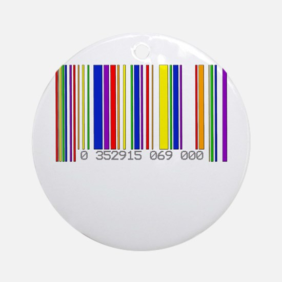 Lesbian Barcode Ornament (Round)