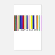 Lesbian Barcode Rectangle Decal