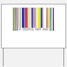 Lesbian Barcode Yard Sign