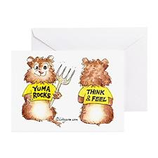 Abrahamster YumaRocks Cartoon Greeting Cards (Pack