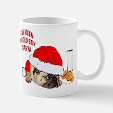 Cute Pug christmas Mug