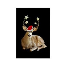Christmas Stag Rectangle Magnet