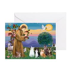 Sister Frances - 5 cats Greeting Card