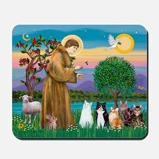 Sister Frances - 5 cats Mousepad