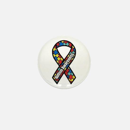 Autism Ribbon Mini Button
