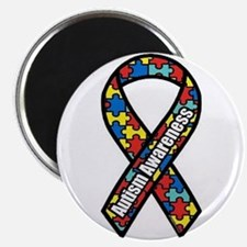 "Autism Ribbon 2.25"" Magnet (100 pack)"