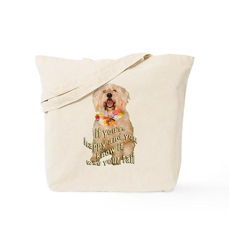 happy wheaten terrier Tote Bag
