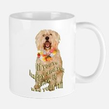happy wheaten terrier Small Small Mug