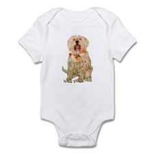 happy wheaten terrier Infant Bodysuit