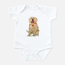happy wheaten terrier Infant Bodysuit