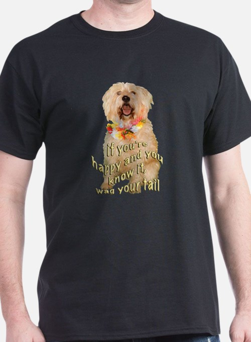 happy wheaten terrier T-Shirt