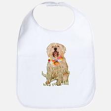 happy wheaten terrier Bib