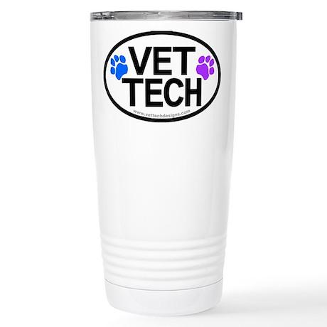 Stainless Steel Travel Mug - VET TECH oval design