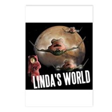 Linda's World Postcards (Package of 8)
