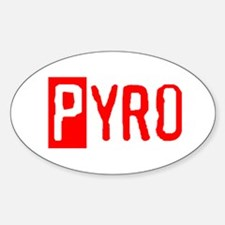 PYRO Oval Decal