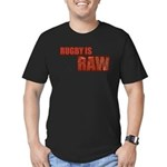 Rugby Is Raw Men's Fitted T-Shirt (dark)