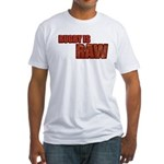 Rugby Is Raw Fitted T-Shirt