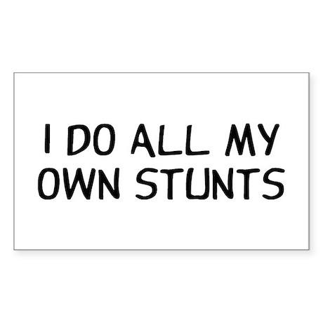 I Do Stunts Sticker (Rectangle)