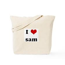 I Love sam Tote Bag