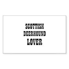 SCOTTISH DEERHOUND LOVER Rectangle Decal