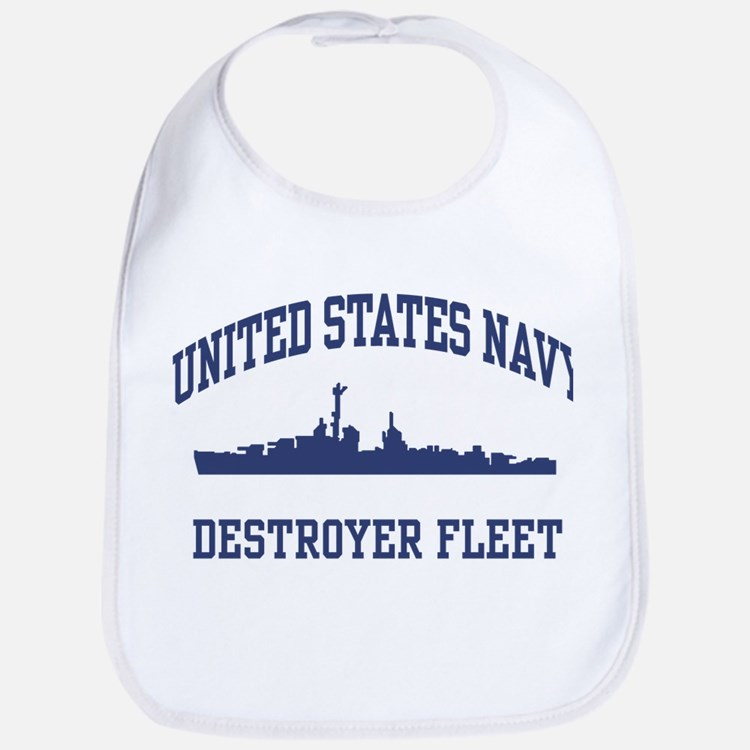 Navy Destroyer Bib