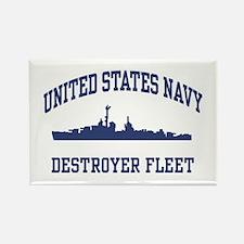 Navy Destroyer Rectangle Magnet