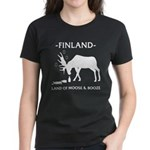 Women's Dark T-Shirt Land of Moose and Booze