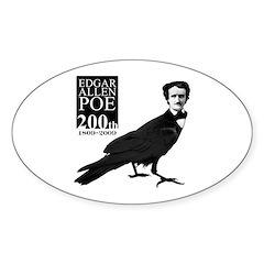 Edgar Allen Poe 200th Oval Decal