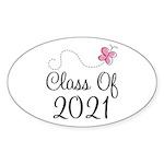 Sweet Pink Class Of 2021 Oval Sticker (50 pk)