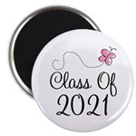 Sweet Pink Class Of 2021 Magnet