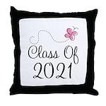 Sweet Pink Class Of 2021 Throw Pillow